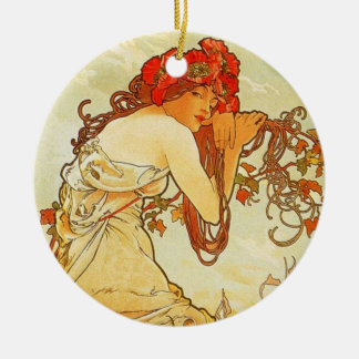Alphonse Mucha Summer Ornament
