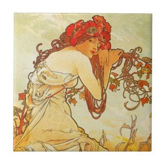 Alphonse Mucha Summer Tile