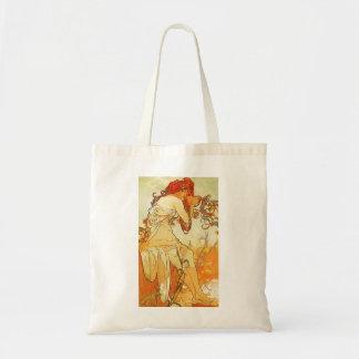 Alphonse Mucha Summer Tote Bag