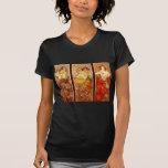 Alphonse Mucha Tee Shirts