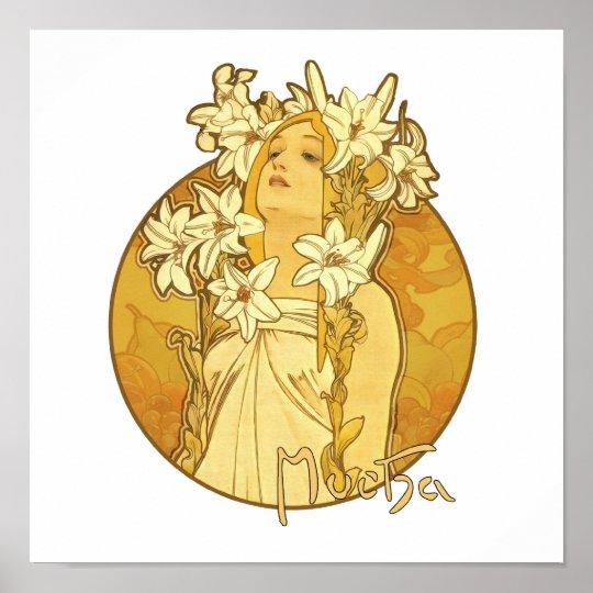 Alphonse Mucha - The Flowers Poster