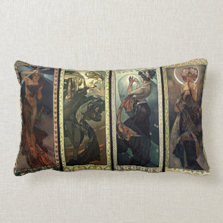 Alphonse Mucha The Moon And The Stars Cushions