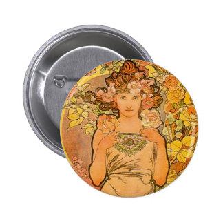 Alphonse Mucha The Rose Button
