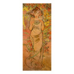 Alphonse Mucha The Rose Poster