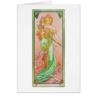 Alphonse Mucha The Seasons: Spring Printemps Card