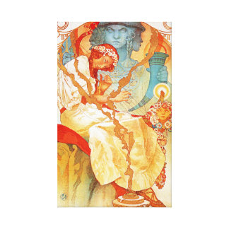 Alphonse Mucha The Slav Epic Stretched Canvas Print