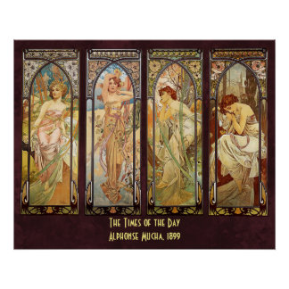 Alphonse Mucha, The Times of the Day Poster