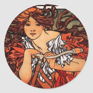 Alphonse Mucha Vintage Bicycle Stickers