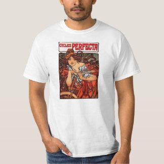 Alphonse Mucha Vintage Bicycle T-shirt