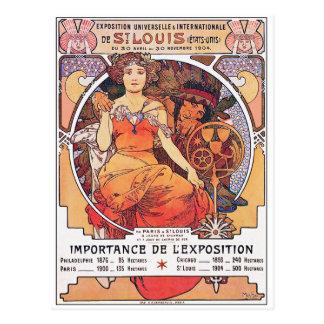 Alphonse Mucha -  World's Fair 1904  St. Louis Postcard