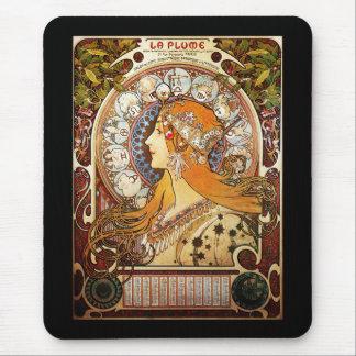 Alphonse Mucha Zodiac Mouse Mat