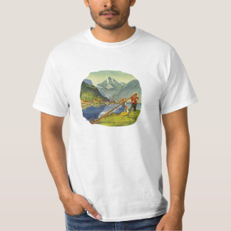 Alphorn Alp Alpine Long Horn Octoberfest T-shirt