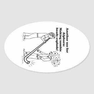 Alphorn Makes Zombies Explode Stickers