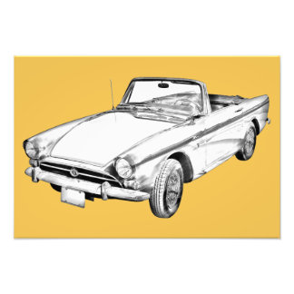 Alpine 5 Sports Car Illustration Photographic Print