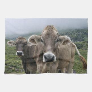 Alpine cows kitchen towels