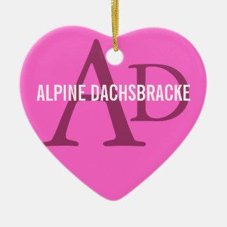 Alpine Dachsbracke Ceramic Heart Decoration