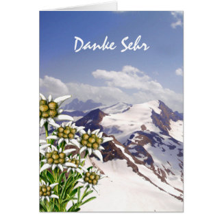 Alpine Flower Edelweiss Custom Thank You Card
