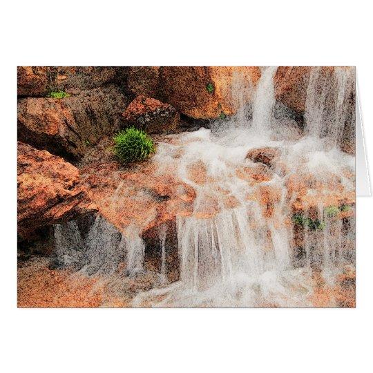 Alpine Garden Waterfall Card