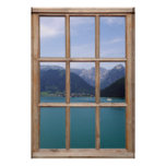 Alpine Lake View from a Window Poster