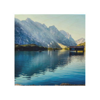 Alpine Lake Wood Prints