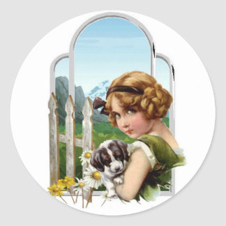Alpine Maid Classic Round Sticker