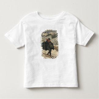Alpine postmen using ski toddler T-Shirt