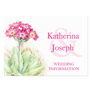 Alpine primrose art wedding info enclosure card pack of chubby business cards
