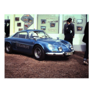 Alpine Renault at Le Mans 1968 Postcard