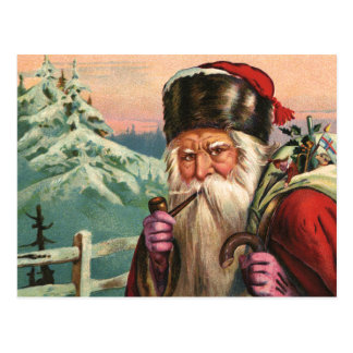 Alpine Santa Postcard