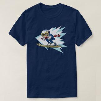 Alpine Skier anime style illustration Winter Games T-Shirt