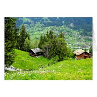 Alpine summer in Switzerland Card