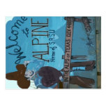 Alpine, TX Welcome Sign Post Card
