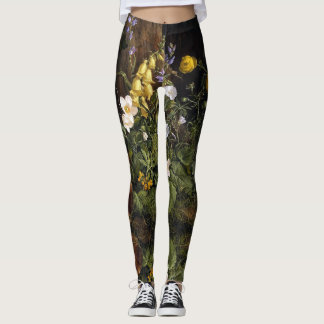 Alpine Wildflower Flowers All Over Print Leggings
