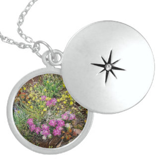 Alpine Wildflower Silver Locket