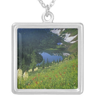 Alpine Wildflowers in the Jewel Basin in the Silver Plated Necklace