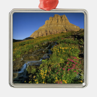 Alpine wildflowers & Mt Clements at Logan Pass Christmas Ornament