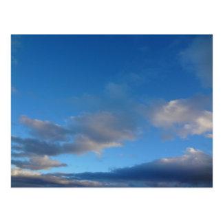 Alpine Winter Sky Postcard