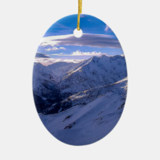 Alps Austria Ceramic Oval Decoration