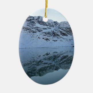 Alps, Switzerland Ceramic Oval Decoration