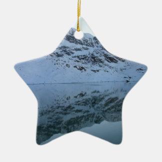Alps, Switzerland Ceramic Star Decoration