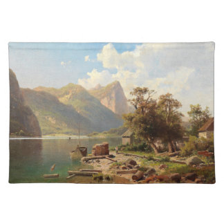 Alps Wilderness Lake Cabins Boat Placemat