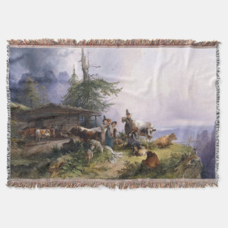 Alpswirtschaft Alps Family Singing Throw Blanket