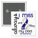 ALS Always I Miss My Dad 3 15 Cm Square Badge