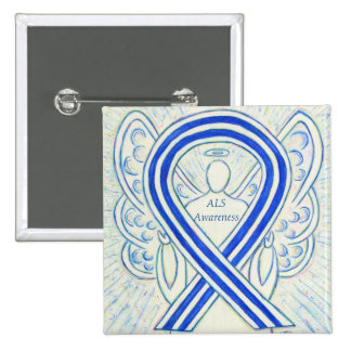 ALS Angel Awareness Ribbon Custom Art Pin
