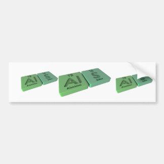 Als as Al Aluminium and S Sulfur Bumper Sticker