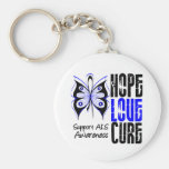 ALS Awareness Hope Love Cure Keychain