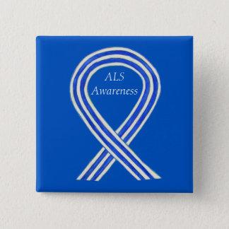 ALS Awareness Ribbon Custom Art Button Pins