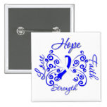 ALS Disease Hope Motto Butterfly 15 Cm Square Badge