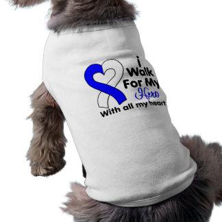 ALS Disease I Walk For My Hero 2 Sleeveless Dog Shirt