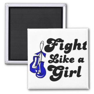 ALS Fight Like A Girl Motto Fridge Magnet